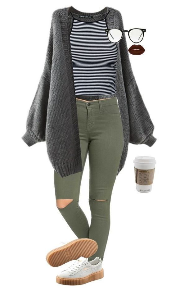 """""""Give Me a Break"""" by maia-stardust on Polyvore featuring Puma, Estradeur, Lime Crime and Spitfire"""