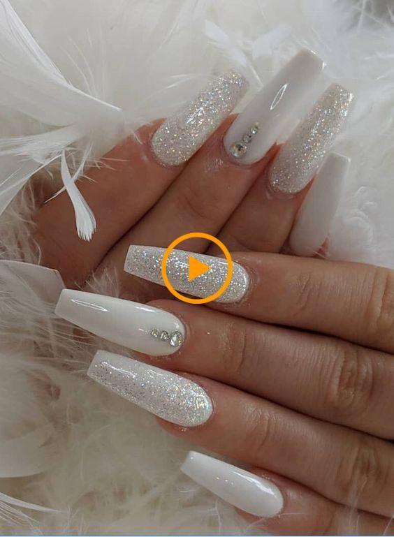 Best Wedding White Coffin Nail Design Best Wedding Nail Design Diynageidesing New Sit White Coffin Nails White Acrylic Nails Long Nail Designs