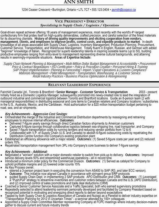 Director Of Operations Resume New Vice President Vp Or Director Of Operations Supply Chain Logistics Resume Manager Resume Marketing Resume Job Resume Samples
