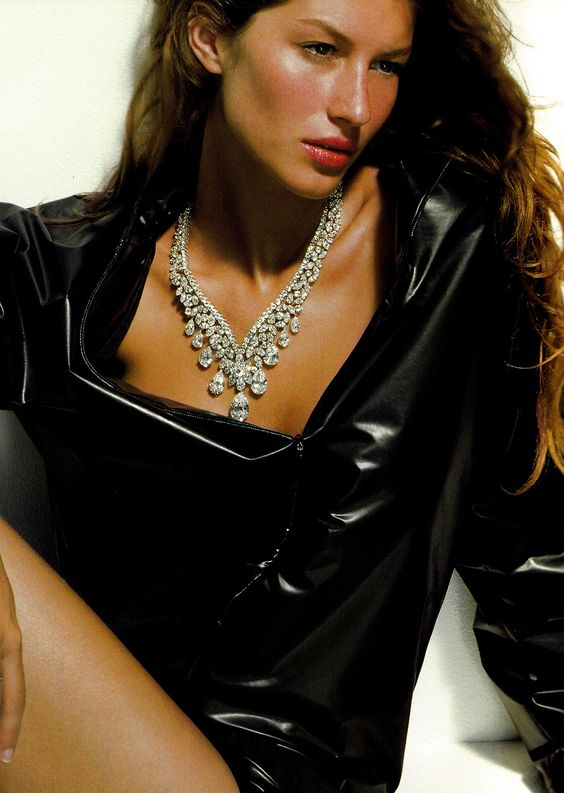 """""""2000 Et Une Nuits"""" Gisele photographed by Herb Ritts for Vogue Paris 1999"""