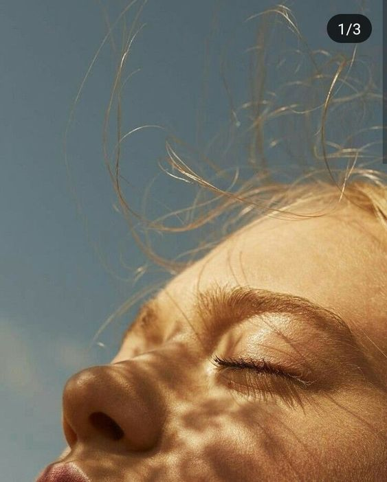 Kreative Portrt Inspiration Licht und Schatten Closeup Moodboard