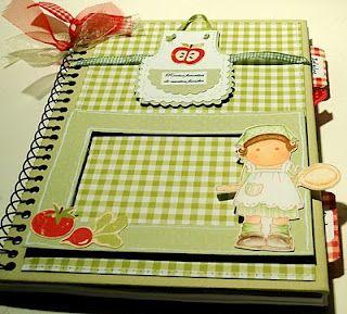 Recetario. altered notebook. Notebook recipes. Cuaderno de cocina. Libro alterado.