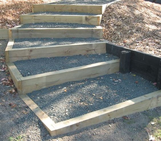 Backyard Steps Ideas: Outdoor Landscaping Ideas Hill Steps