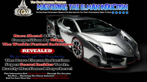 Race ahead of your competition by using the worlds fastest induction The Elman Induction. Learn this rapid induction technique the quickest and easiest way possible by using Mastering The Elman Induction Online Video and Audio Course http://youcanhypnotize.com