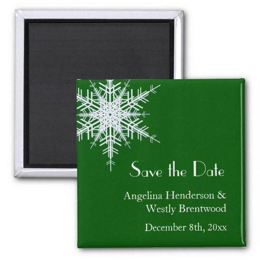 Winter Wedding Save the Date Magnet Wedding Savings – Winter Wedding Save the Date Magnets