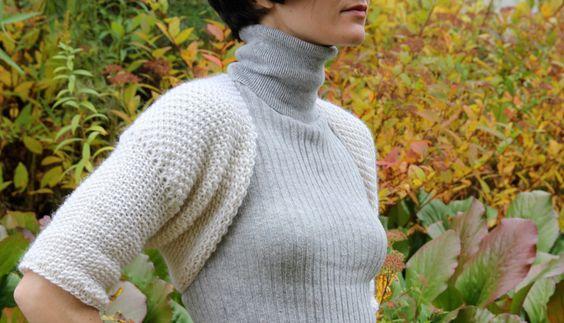 Interesting shrug pattern knit and crochet Pinterest Free pattern, Bole...
