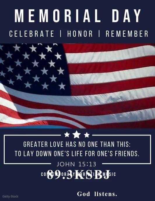 American Memorial Day Video Template Remembrance Day Posters Remembrance Day Memorial Day Message