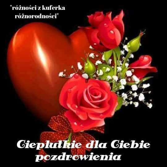 Pin By Sabina On Pozdrowienia Hearts And Roses Valentines Illustration Good Night Beautiful
