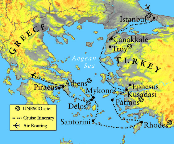 how to travel from turkey to greece