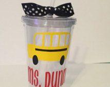 School Bus Tumbler, Bus Driver Tumbler, School Bus Driver gift, bus driver gift, school bus driver tumbler gift, personalized school bus