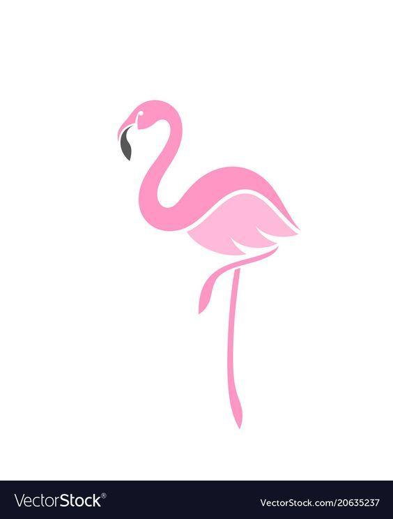 flamingo logo royalty free vector image - vectorstock   flamingo art print,  flamingo logo, flamingo art  pinterest