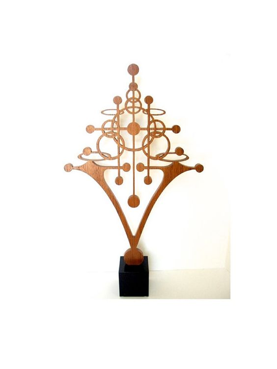 Atomic Art Nouveau Sculpture by FredArndtArtworks on Etsy