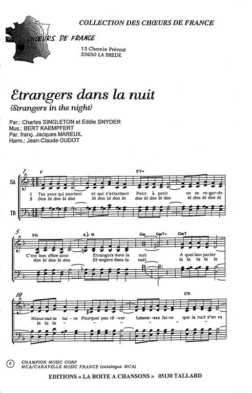 La Boite à Chanson : boite, chanson, ETRANGERS, Partition, Guitare, Debutant,, Boîte, Chansons,, Parole, Musique
