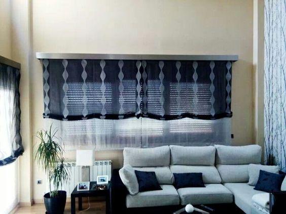 Doble estor paquetto cortinas pinterest - Estores de tela ...