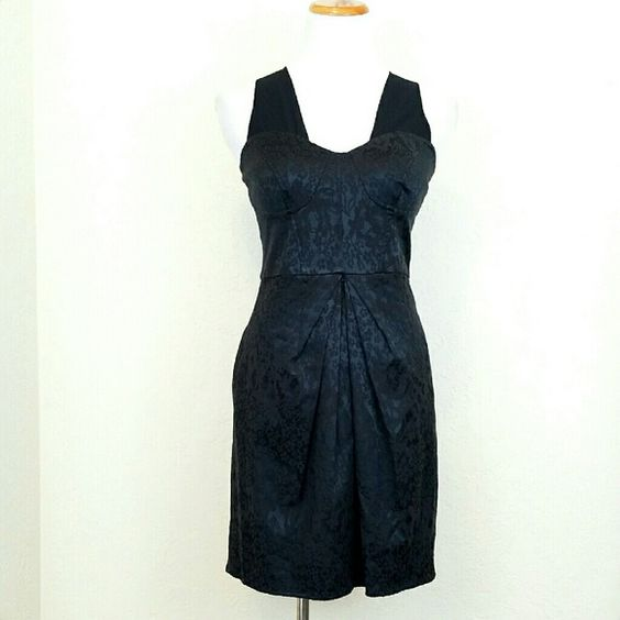 Walter Baker Black Brocade Bustier Dress Walter by Walter Baker Black Brocade Bustier Dress. Shoulder straps are semi sheer material. Pockets. V Back w/ zip. NWT  No Trade or PP  Offers Considered  Bundle discounts Walter Baker Dresses