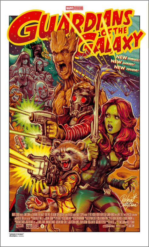 Guardians Of The Galaxy By Rockin Jelly Bean Marvel Movie Posters Galaxy Poster Comic Poster