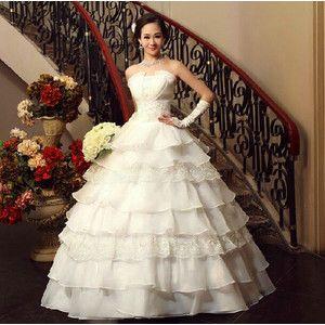 人気格安 花嫁ウェディングドレス 二次会 ロングドレス ビスチェタイプ エンパイアドレス 結婚式 プリンセス ドレスwedding dress