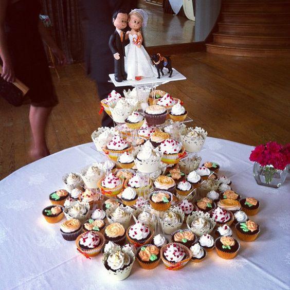 Já pensou num bolo de cupcake?