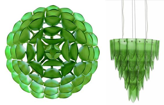 Recycled Glass Chandelier by Tord Boontje and Emma Woffenden - NYTimes.com (produced in guatemala)