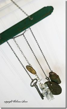 Wind Chimes tutorial - made with upcycle items