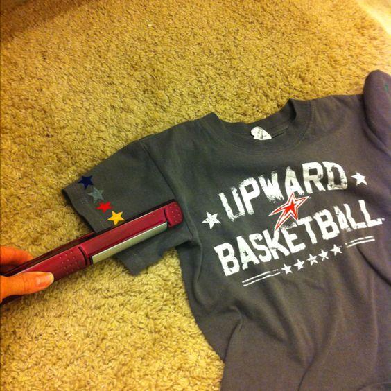 Use your flat iron to iron on Upward Basketball stars! #upwardsports