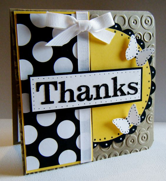 Thanks - Scrapbook.com Card creation created by Lisa Young: Crafts Cards, Handmade Cards, Cards Paper, Thank You Cards, Cards Cards, Card Making, Card Ideas, Card Inspiration, Color Combination