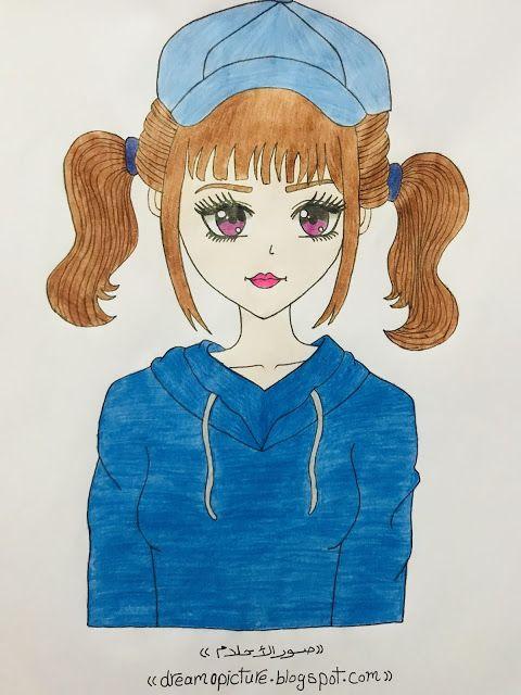 رسم بنات انمى كول بالالوان الخشب Drawings Art Foto Bts