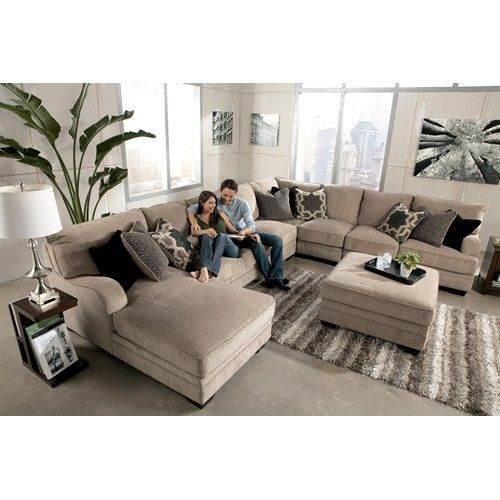Signature Design by Ashley Katisha - Platinum 5-Piece Sectional Sofa with Left Chaise -  sc 1 st  Pinterest : microfiber sectional chaise - Sectionals, Sofas & Couches