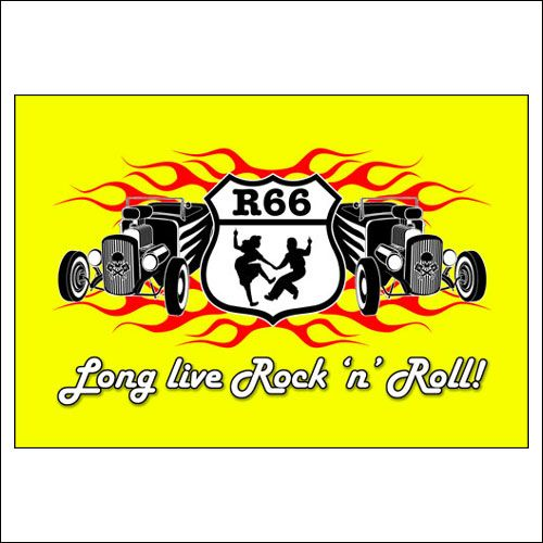 3 X 5 900 X 1500mm 50 S Long Live Rock N Roll Flag Rock And Roll Dresses 50s Rock And Roll Rockabilly Fashion