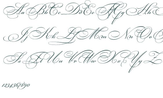Cursive Calligraphy Alphabet | Old English The Best Fancy ...