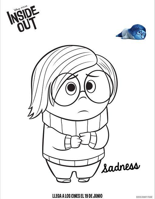 Dibujos de Intensamente tristeza para colorear  tecnica ...
