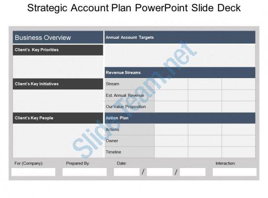 Strategic Account Plan Powerpoint Slide Deck Slide01 How To Plan
