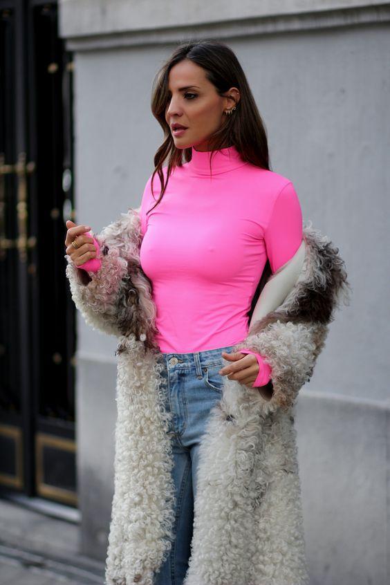 roupas neon feminina rosa