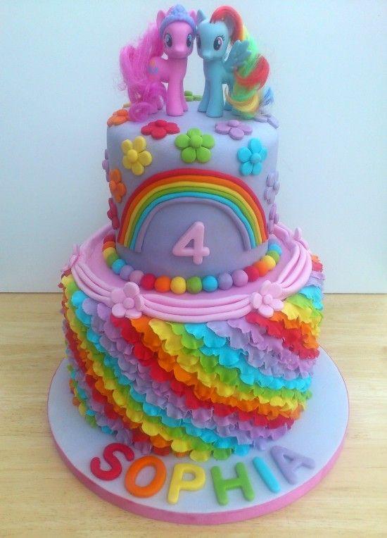 Birthday Cake Decorating Ideas Buttercream : my little pony buttercream cakes My Little Pony Birthday ...