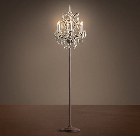 floorlamp... its like having elegant chandeliers without the wiring/hanging everytime you move! i want a pair!
