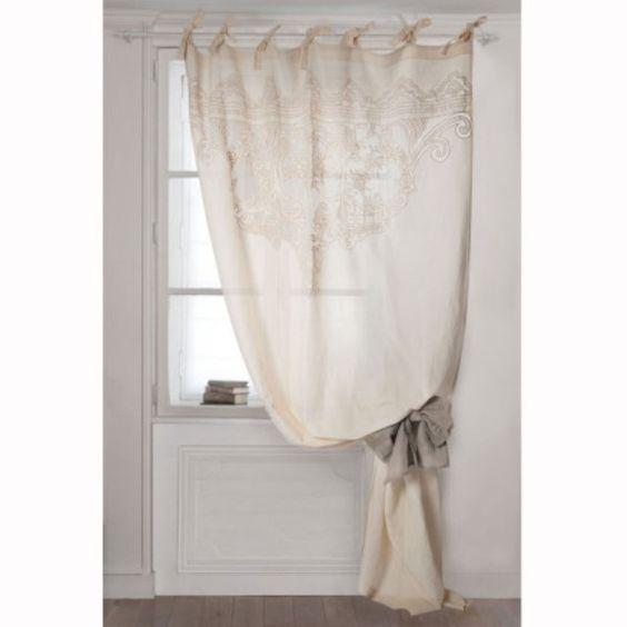 rideau voilage boudoir mathilde m d coration cosy pour maison de charme pinterest boudoir. Black Bedroom Furniture Sets. Home Design Ideas