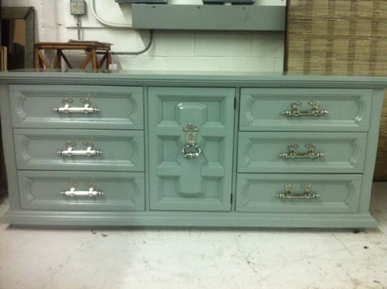 This Is One Of Those 70 39 S Bedroom Dressers That Has Been Revamped With Lacquer And Gorgeous