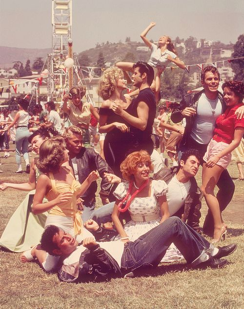 """""""Grease"""" (1978) Starring John Travolta, Olivia Newton-John - When I was a little girl I would sign my school work as """"Sandy"""". Used to confuse the heck out of my second grade teacher. Lol!"""