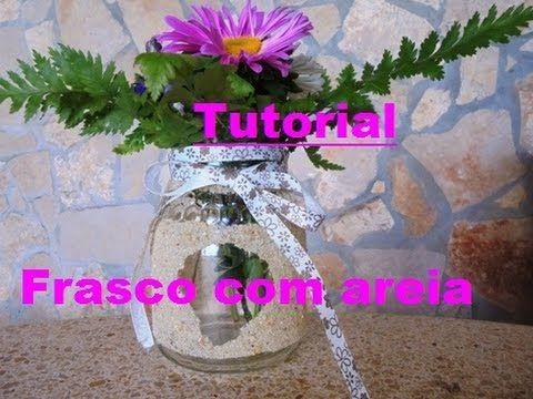 Tutorial - Frasco decorado com areia - YouTube