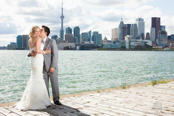 **RECREATE**toronto lakeshore wedding photo @ the polson pier!