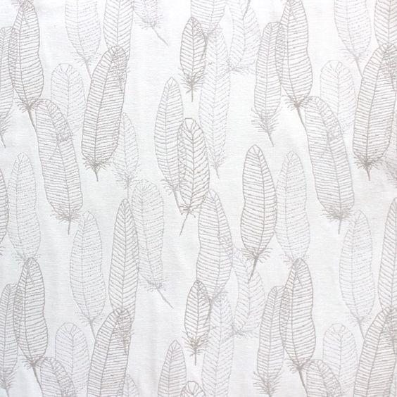 Tissu d'ameublement au mètre à motifs de plumes
