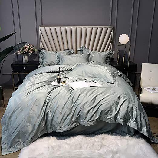 Twin Bed Duvet Cover Set Duvet Cover Set Bedding Set 100 Egyptian Cotton Double King Size 4 Pcs White Gray Gr Duvet Cover Sets Bed Duvet Covers Duvet Bedding