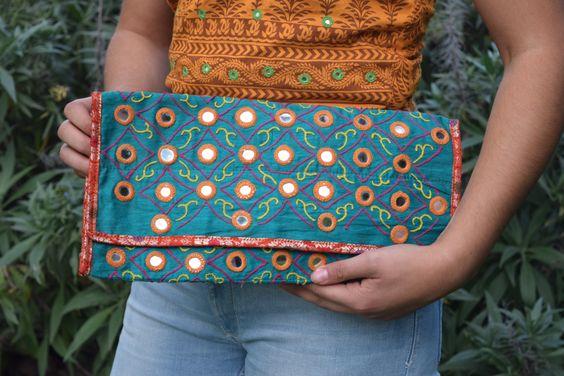 Handmade teal mirrored clutch bag by SaheliDesigns on Etsy https://www.etsy.com/au/listing/289758339/handmade-teal-mirrored-clutch-bag