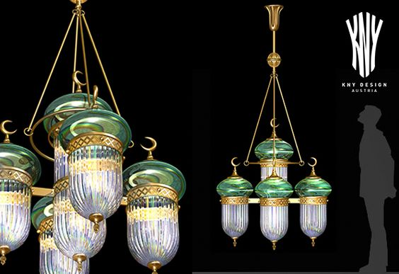 Mosque Decoration Pendant Lamp - Decorative Lighting for Mosque designed and manufactured by KNY Design Austria www.kny-design.com