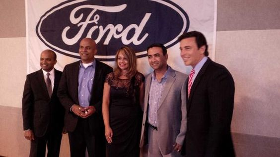 @varchu with Mark Fields- President & CEO of #Ford and Raj Nair - VP at the #FAIA event.