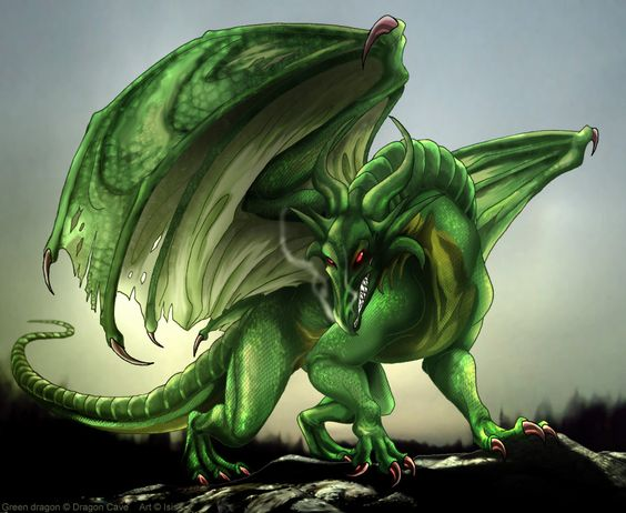 Green dragon by *IsisMasshiro on deviantART