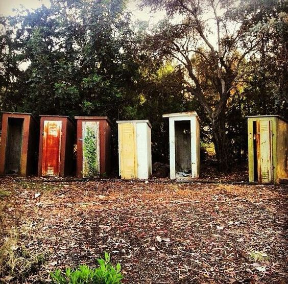 Outhouse doors