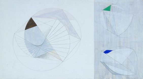 Dame Barbara Hepworth 'Drawing for 'Sculpture with Colour' (Forms with Colour)', 1941 © Bowness