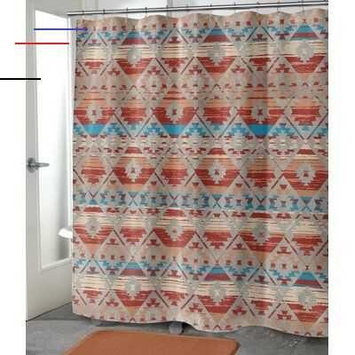 Bloomsbury Market Whitstran Geometric Single Shower Curtain Size 90 Quot H X 70 Quot W Neutralshowercurtains Terrazzo Schließsysteme Unterschrank