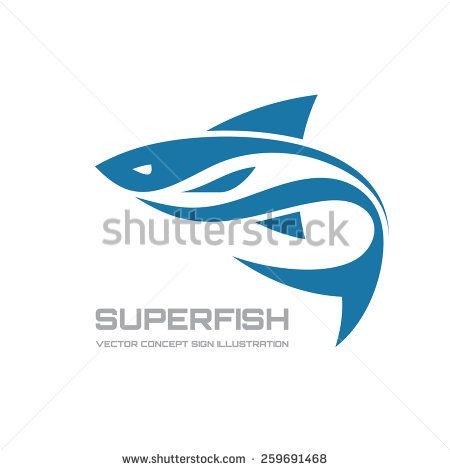 Super fish - vector logo concept illustration. Fish logo. Vector logo template. Design element.